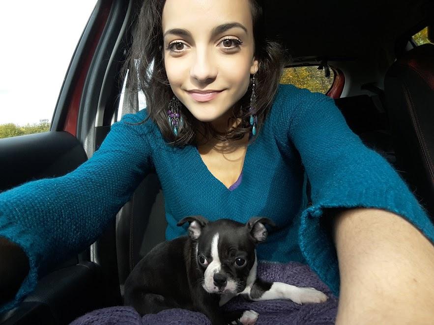 Maple et moi en voiture