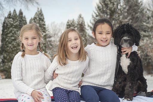 enfants chien